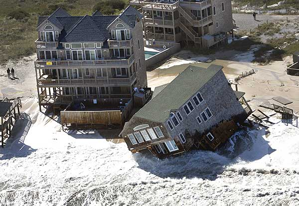 NC home falling into the sea